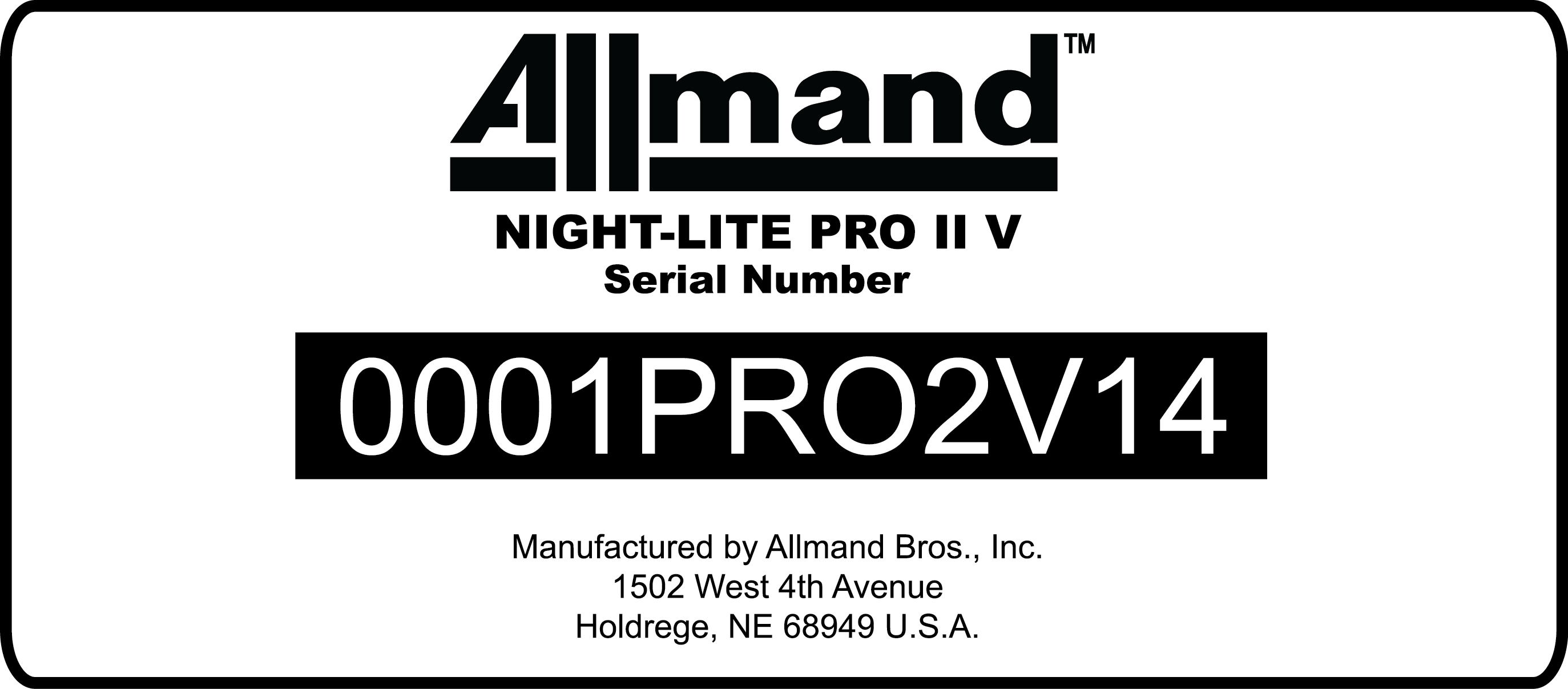 Allmand Serial Numbers