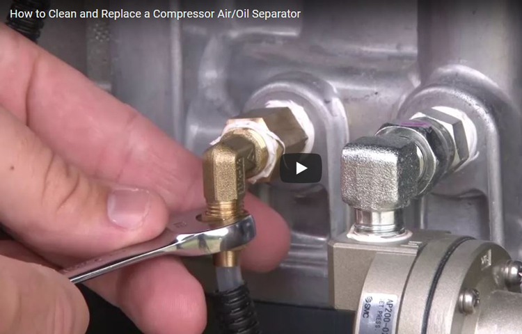 How to Change the Air/Oil Separator and Clean ...