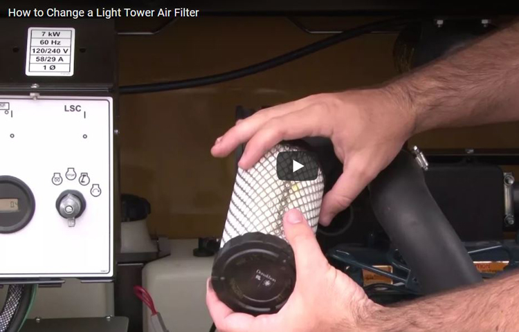 How to Replace an Air Filter on Light Tower