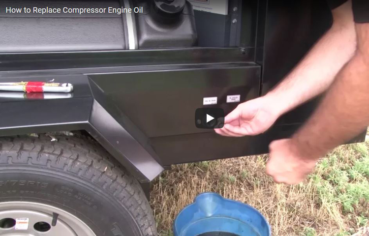 How to Replace an Engine's Oil on a Compressor